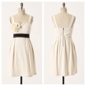 Anthro Deletta Cream Breakfasting Night Out Dress
